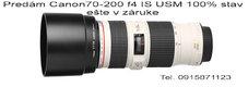 Predám Canon 70-200f4 L IS USM
