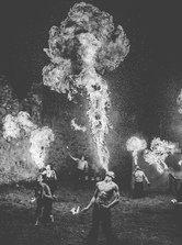 Burning men