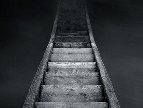 Stairway from darkness