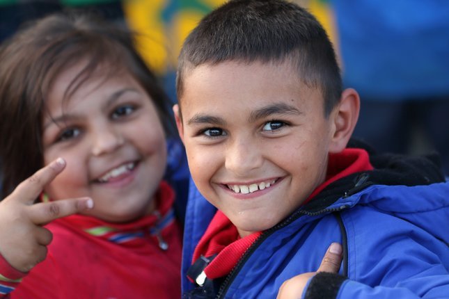 Veselí návštevníci levického jarmoku jar 2015