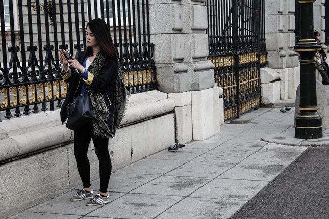 turista v Madride
