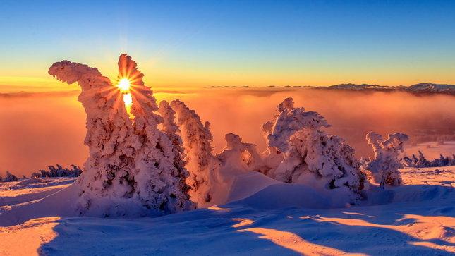 Západ slnka v Aplách