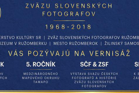 Výstavy 50 rokov založenia ZSF, 43. ročník ZSF, 5. ročník TAMAPO,  SČF-Detail,
