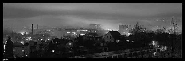 Košice v hmle