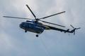 Vrtuľník pri práci