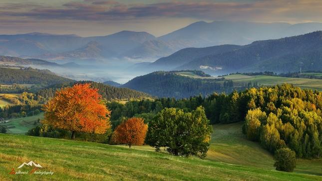 Jesenné ráno pod Poľanou
