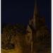church in moonlight