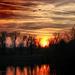 Ohnivý západ slnka
