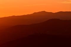 Toskánský západ slnka