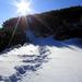 Cesticka v snehu