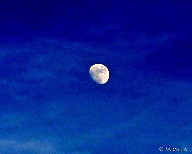 Mesiac na modrom nebi