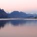 Zimny' podvecer na jazeri