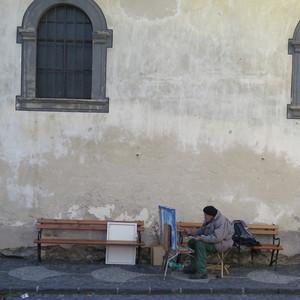 maliar v Štiavnici