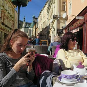 kaviareň na hlavnej ulici