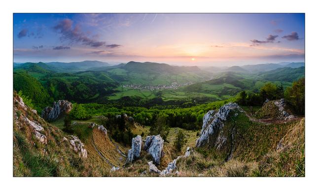 Západo-slnečné pohľady z Vápeča