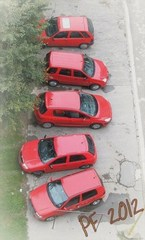 Parking in red