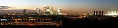 London dusk, panorama