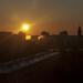 Sereď - východ slnka