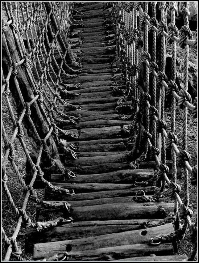 Viadukt pro pěší.
