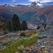 ranný pokoj nad Zermattom