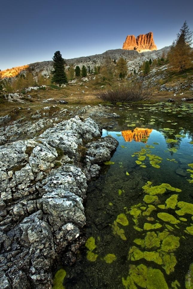odraz Averau v Lago Limedes