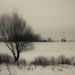 v zime na hrádzi