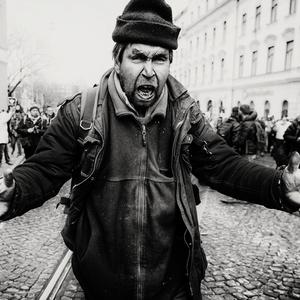 Pokojny demonstrant