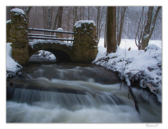 Travertínový most a Krivý potok