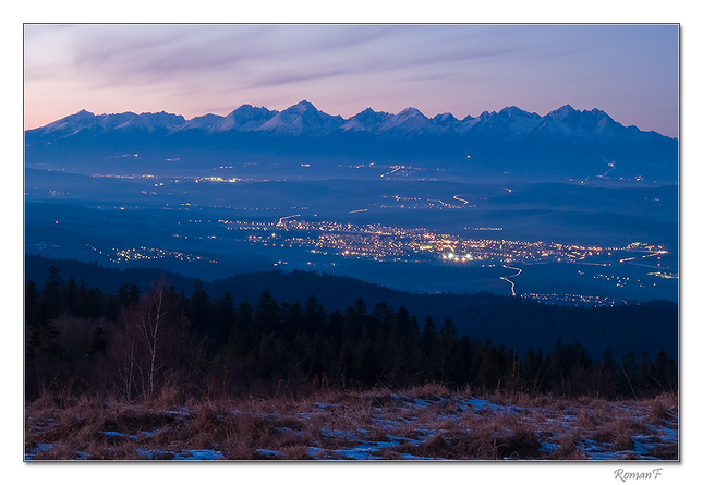 Nočná krajina pod Tatrami