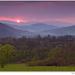 Farebný aprílový západ Slnka