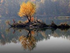 jeseň na vode