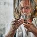 Starý muž s fajkou