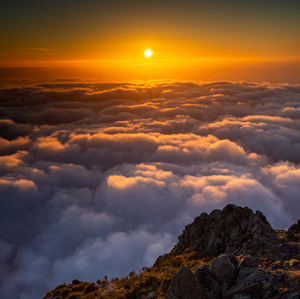 svítání na Pico do Arieiro