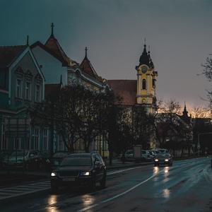 Po daždi v Galante na hlavnej ul