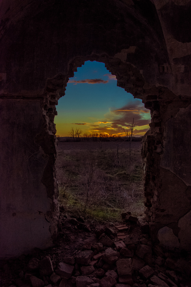 Dusk from the castle ruins