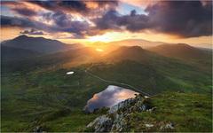 Vychod slnka nad Killarney