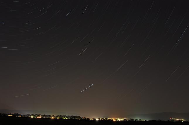 nočné Sobrance pod hviezdnou obl