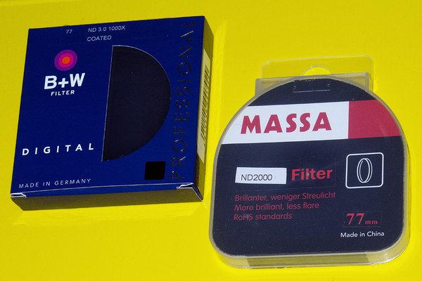 """""""Hustý"""" ND filter B+W vs. MASSA"""