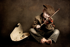 malý huslista