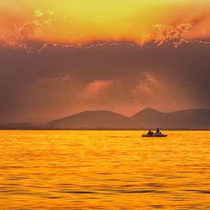 Oranžový západ