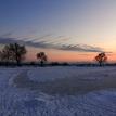 Zima na rybníku.