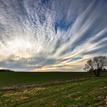 Jarný vejár oblakov.
