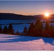 Zimný dotyk slnečných lúčov