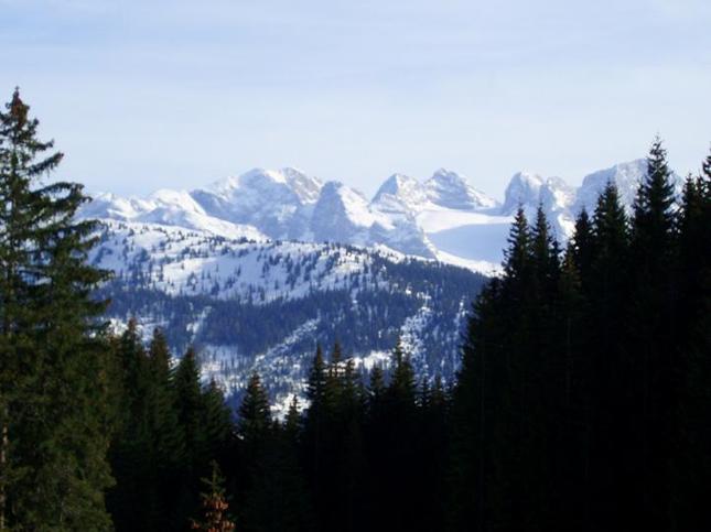 Zasnežené rakuske alpy