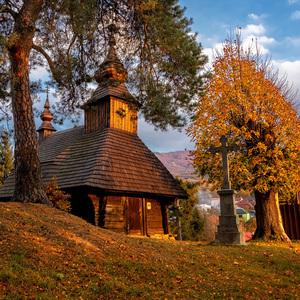 Drevený kostolík v Inovciach
