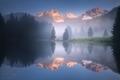 Mystické ráno u jezera...