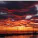 magický západ slnka v Novigrade
