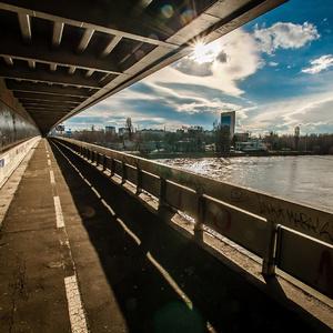 Pohľad z Mosta SNP