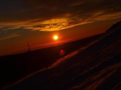 ..sunset pod Snezkou...