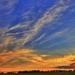 Večerná obloha pri Trnave
